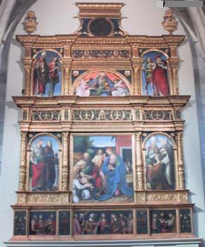 Collegiata di S. Maria delle Grazie: Polittico di Gaudenzio Ferrari