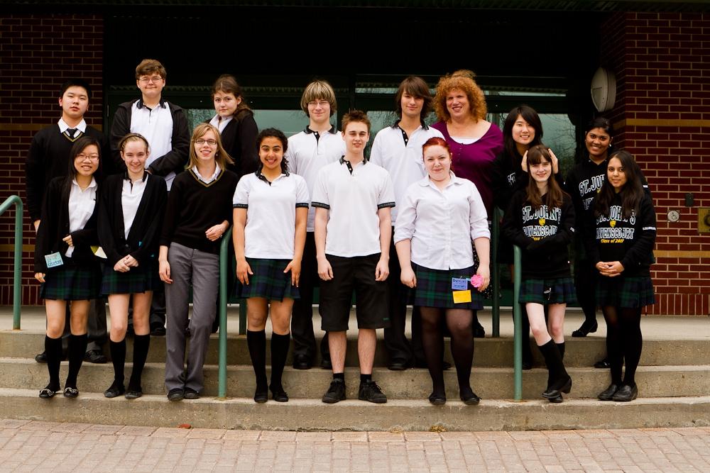 Gli studenti canadesi che partecipano al progetto
