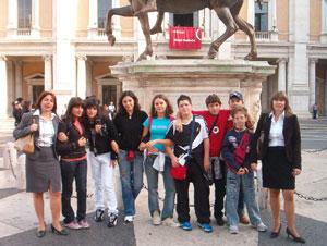 Foto di gruppo a Roma
