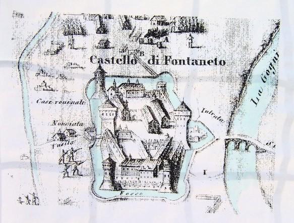 il castello di Fontaneto - Mappa