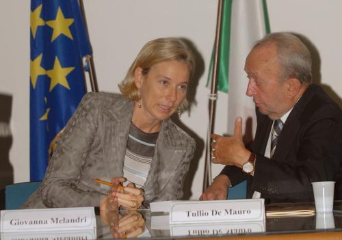 Ministro Melandri e Tullio De Mauro