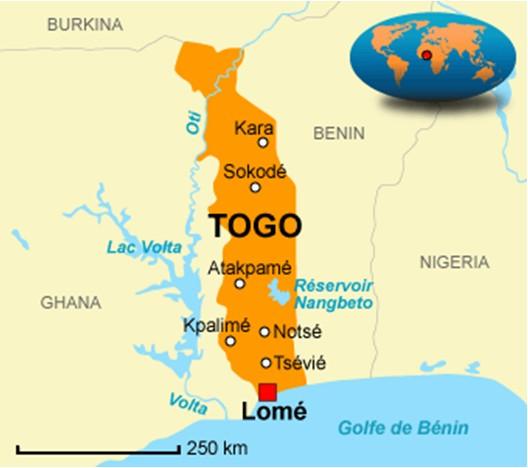 Togo: cartina