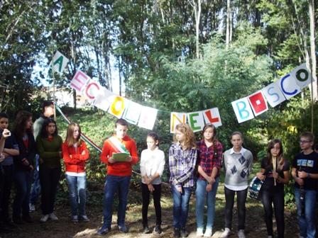 Cerimonia di inaugurazione A scuola nel bosco